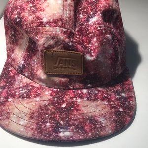 Vans galaxy pink stars hat